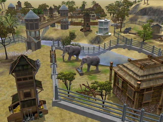 Das Gehege der imposanten Elefanten