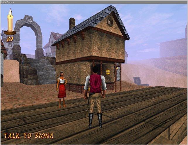 In Redguard sucht ihr eure Schwester. Der vorgegebene Charakter hat erstmals Charakterzüge.