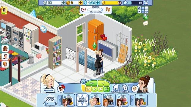 Bei den Sims darf eins natürlich nicht fehlen: Liebe (machen).