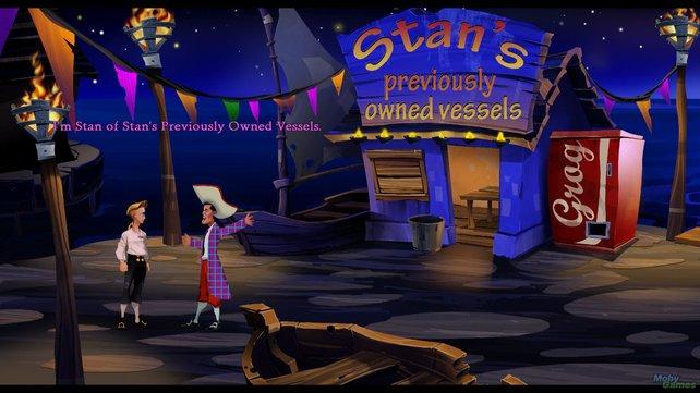 Gebrauchtschiffhändler Stan sollte umsatteln - und günstige Computerspiele verkaufen... so wie dieses hier.