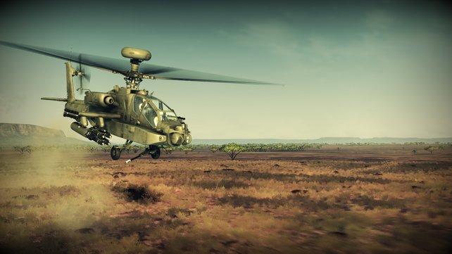 In Apache Air Assault lassen sich zahlreiche Varianten des Hubschraubers fliegen.