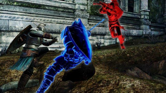 Ein sogenannter Blauer Wächter hilft im Kampf gegen einen Eindringling.