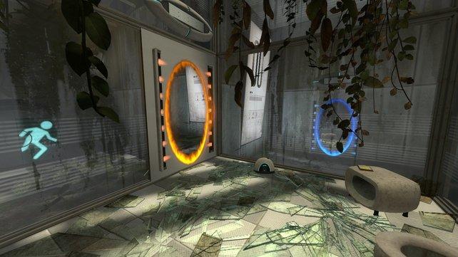 Nach wie vor das Grundprinzip des Spiels: Erreicht den Ausgang durch raumkrümmende Portale.
