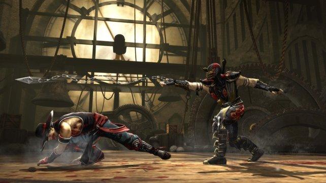 Das neue Mortal Kombat vom April 2011 spart nicht an Pixelblut.