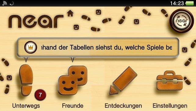 """Die Applikation namens """"near"""" zeigt euch Spieler in der Nähe und soll den Austausch mit anderen Spielern erleichtern."""