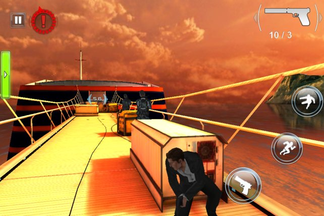 Auf Capri schleicht ihr auf einer Yacht umher - optisch das schönste Level im Spiel.