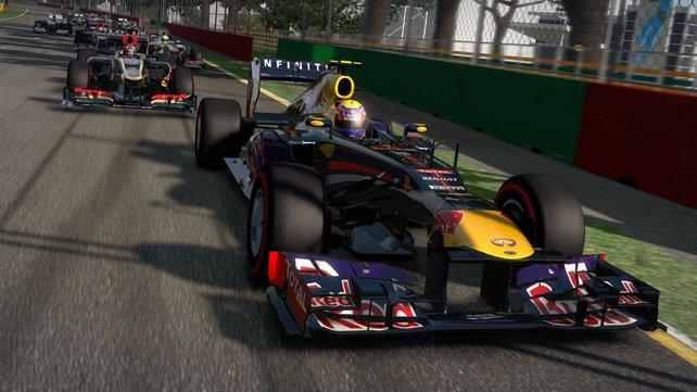 Die F1-Wagen stellt das Spiel sehr detailreich dar.