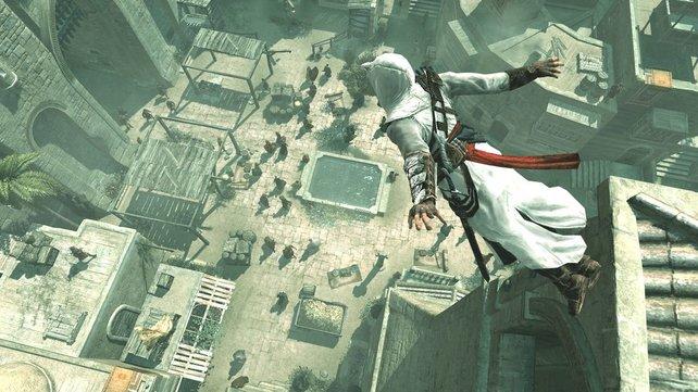 Toll springen kann er, der Altair. Aber viel mehr ist laut Wolfsauge auch nicht drin.