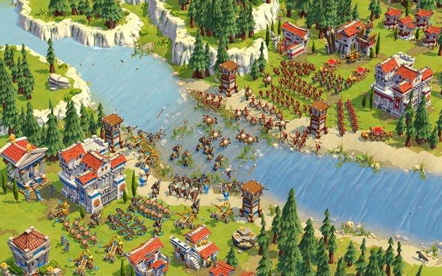 Große Schlachten finden erst im späteren Spielverlauf statt.