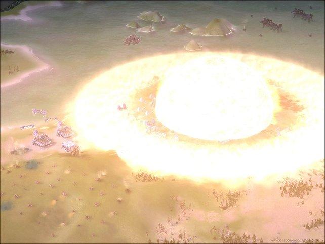 Die Explosionen des Spiels sind sehenswert