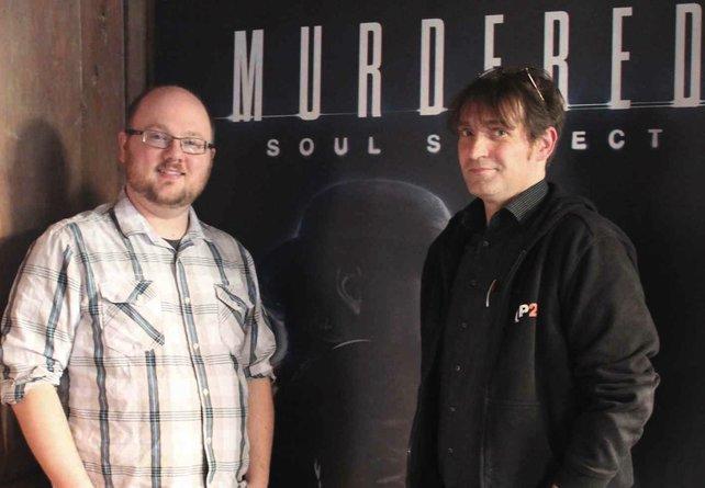 Eric Studer von Airtight Games und spieletipps-Autor Ulrich.