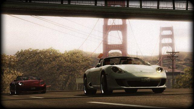 """In Team-Rennen fahrt ihr zwei Autos abwechselnd - """"Shift"""" macht es möglich."""