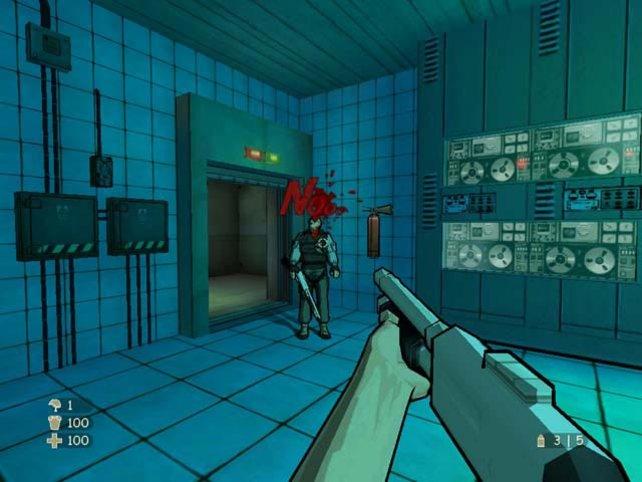 Hier die mächtige Shotgun. Nur eine von 15 Waffen!