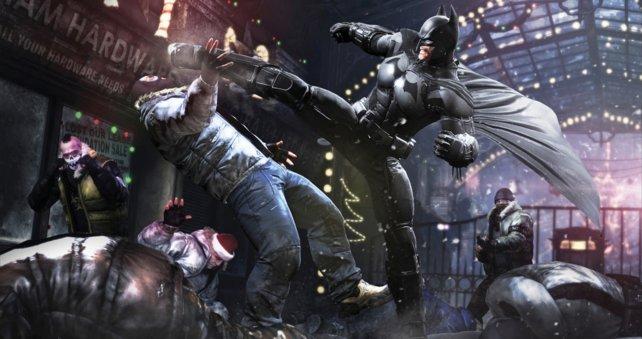 Der hat gesessen. Aber vor der Knarre im Hintergrund sollte Batman sich in Acht nehmen.