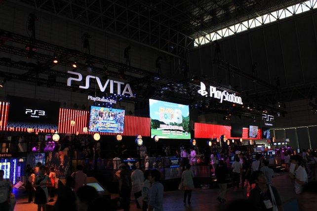 Viel Spielstoff für die PS Vita und PS3 am Sony-Stand.