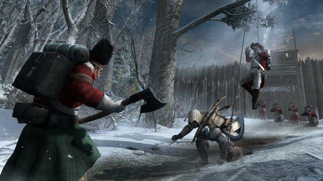 In Assassin's Creed 3 könnt ihr Fallen bauen.