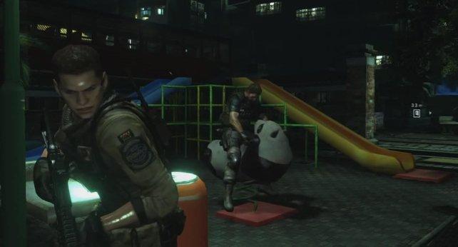"""Ihr seht den """"Panda"""", den ihr in Resident Evil 6 reiten könnt."""