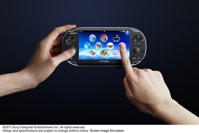 Das Menü der PS Vita erinnert an die iPhone-Oberfläche.