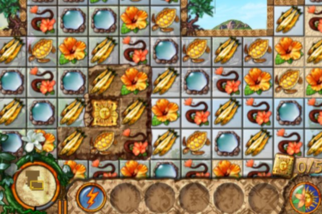 In Paradise Quest sammelt Ihr Materialien, um eine Insel wiederaufzuforsten.