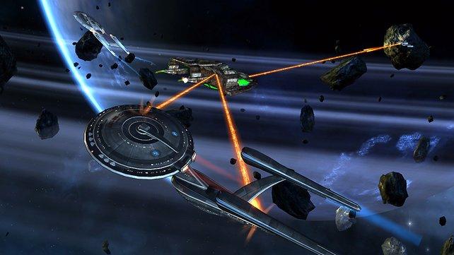 Die Weltraumkämpfe in Star Trek Online machen eine Menge Spaß und können auch optisch begeistern.