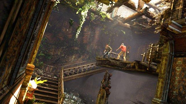 """Uncharted 3 beleuchtet die Beziehung zwischen Nathan Drake und seinem Mentor Victor """"Sully"""" Sullivan."""