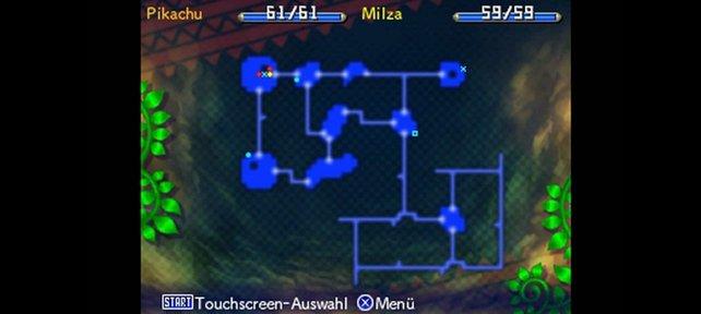 Mit der Karte könnt ihr euch in Dungeons orientieren.