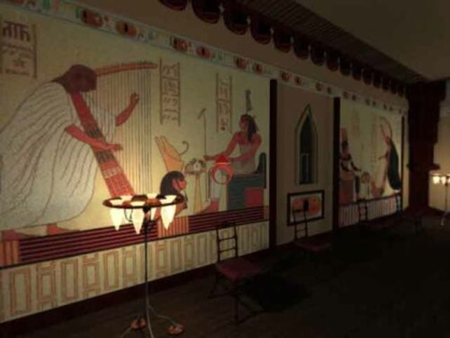Wandgemälde in der Grabkammer