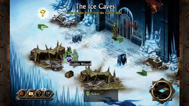 Der Weg zur Festung führt durch Eishöhlen. (Screenshot Xbox360)