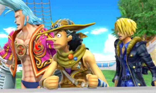 Da staunen Franky, Lysop und Sanji. Das Abenteuer geht weiter.