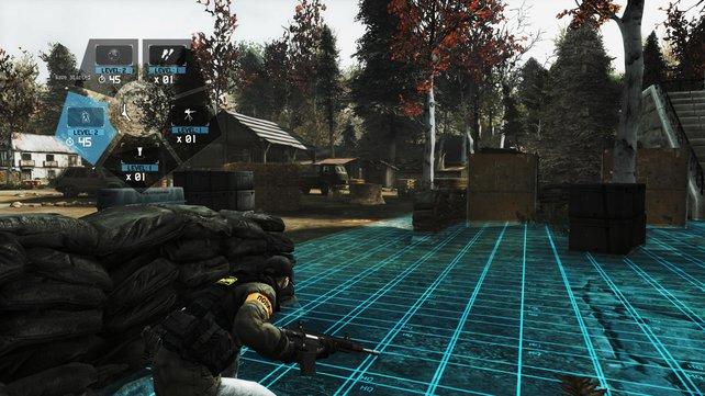 Im Guerrilla-Modus verteidigt ihr einen Bereich vor Feinden.