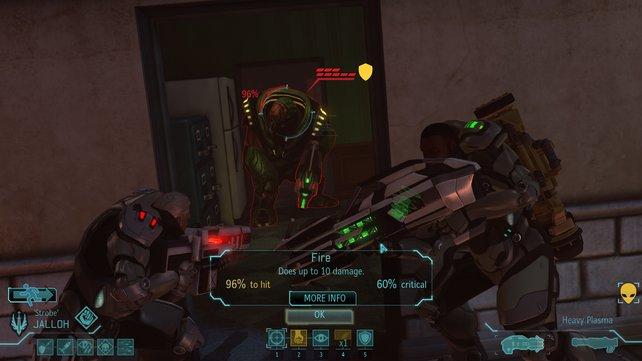 Bei der Zielauswahl im Schussmodus sieht die Kamera den Soldaten über die Schulter.