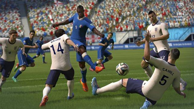 Spielerisch ist Fifa Fussball Weltmeisterschaft 2014 leicht actionlastig und keine lupenreine Simulation.