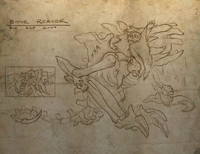 Die Konzeptzeichnung des Bone Reavers.