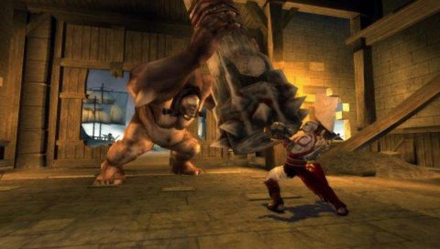 Gewichte stemmen mit einem Zyklopen? Kein Problem für Kratos!