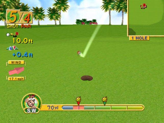 Auch Golfen muss gelernt sein.