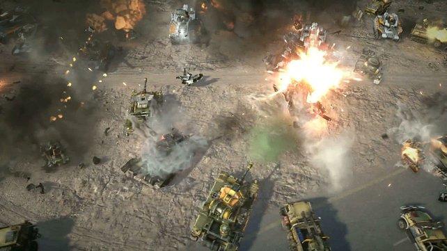 Die Schlachtfelder präsentieren sich dank Rauch und dicken Explosionen stimmig.