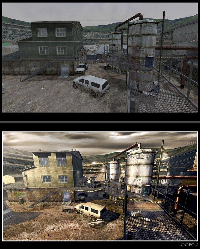 Diese Konzeptzeichnung zeigt angeblich die neue Belichtungstechnik, die in Modern Warfare 3 zum Einsatz kommen soll.