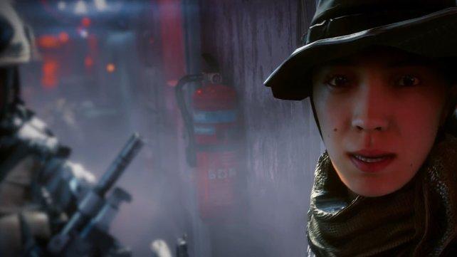 Auch Frauen mischen in Battlefield 4 mit. Wer aber diese Schönheit wohl ist?