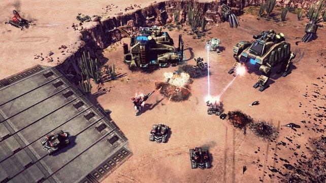 GDI-Crawler werden von NOD-Armeen angegriffen.