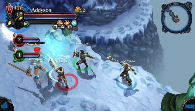 Auch auf Schnee und Eis sind Kämpfe angesagt.