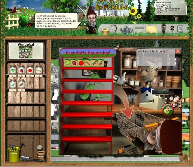 Neues Saatgut gibt's beim Händler in Wurzeltal.