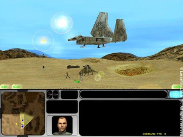 Das Spiel beginnt auf dem Wüstenplaneten Tatooine.