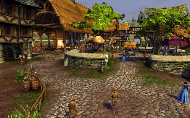 Auch der Aufbau der Quest-Ausgabestellen erinnert an Azeroths Dörfer.