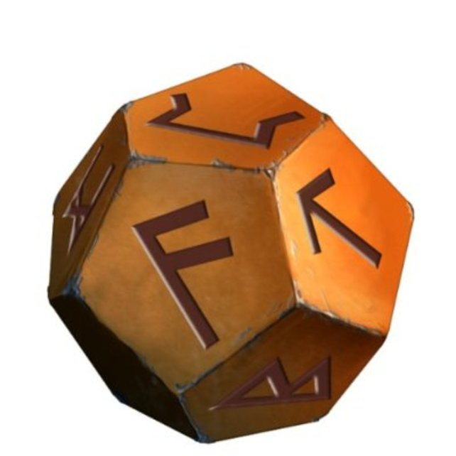 Drei dieser sogenannten Dodekaeder bekommt ihr als Kopierschutz-Maßnahme zum Spiel dazu.