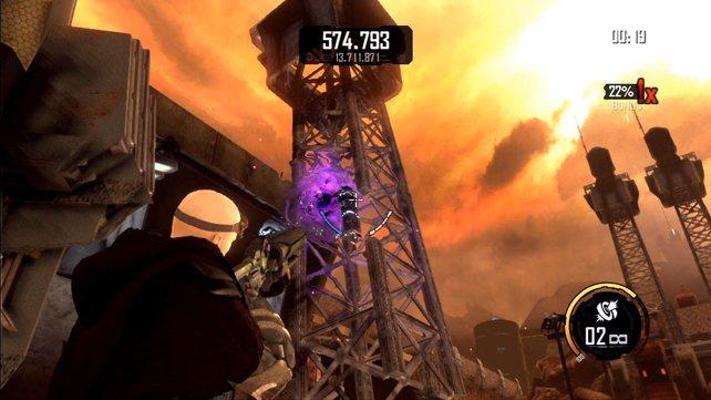 Im Zerstörungsmodus habt ihr eine Minute Zeit, um mit genug Verwüstungen die Höchstpunktzahl zu schlagen.