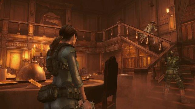 Jill Valentine kämpft sich durch ein riesiges Kreuzfahrtschiff.