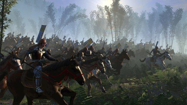"""Flankenangriffe mit schwerer Kavallerie sind auch  in """"Shogun 2"""" eine tödliche Waffe."""