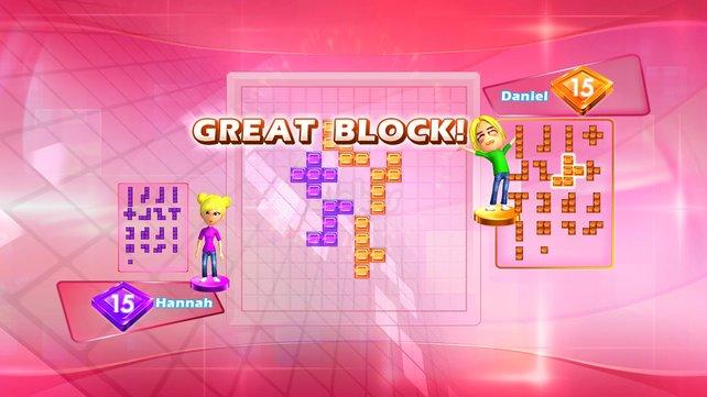 Auch auf dem kleinen Feld ist Blocken wichtig.