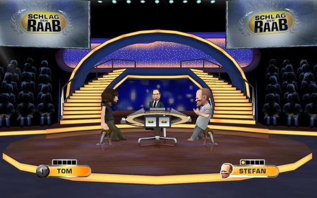 Das originale Studio samt Raab und Opdenhövel verleihen dem Spiel ein Atmosphäre-Plus.