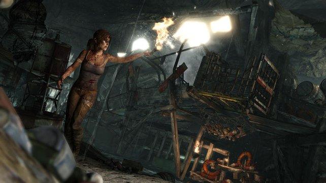 In Tomb Raider strandet Lara Croft auf einer Insel.